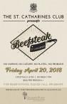 THE ST. CATHARINES CLUB presents Beefsteak