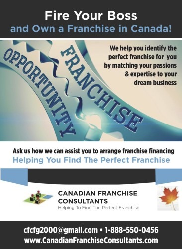 Fire Your Boss and Own a Franchise in Canada!