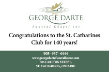 Congratulations to the St. Catharines Club for 140 years!
